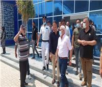 جولة لمحافظ بورسعيد لمتابعة سير العمل بالميناء البري الجديد