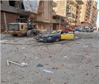 تحطم تاكسي في انهيار جزئي بسقف أحد العمارات بالمحلة الكبرى