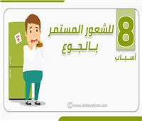إنفوجراف | 8 أسباب للشعور المستمر بالجوع