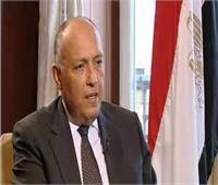 شكري: التنسيق مع الجزائر لتحقيق الاستقرار عربيا وإفريقيا