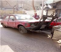 «الأوناش» ترفع 49 سيارة ودراجة نارية متهالكة من الشوارع والميادين