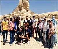وزارة السياحة والآثار تنظم رحلة توعية للطلاب المتفوقين من سيناء
