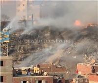 ننشر صور حريق مخلفات «اسطبل عنتر» بمصر القديمة