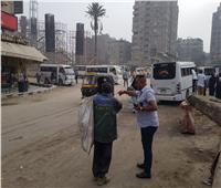 حملات للنظافة ورفع الإشغالات بشارع ناهيا | صور