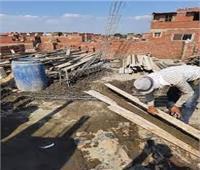 وقف 4 حالات بناء مخالف في مركز طنطا