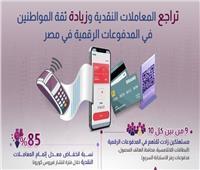 إنفوجراف | تراجع المعاملات النقدية وزيادة ثقة المواطنين في المدفوعات الرقمية
