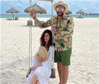 صور | أول ظهور لهاجر أحمد بعد زفافها.. وسط البحر مع زوجها