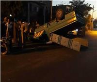 إصابة 4 أشخاص بمركز توزيع أسئلة امتحانات الثانوي بالمنيا إثر انقلاب سيارة