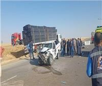 إصابة 11 شخصًا في تصادم سيارتين بطريق «سوهاج الغردقة»