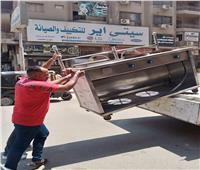«حي الطالبية» يشن حملة إشغالات على القطاع الشمالي  صور