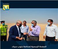 محافظ جنوب سيناء يتفقد مضمار الهجن التدريبي بالطور