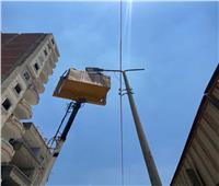 إصلاح وتركيب ٣٧ كشافا في حملة صيانة بمركز بسيون  صور