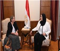 وزيرة التضامن تستقبل سفيرة فنلندا بالقاهرة بمناسبة انتهاء فترة عملها