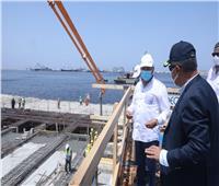 «الوزير» يتابع تنفيذ المحطة متعددة الأغراض والجراج متعدد الطوابق بميناء الإسكندرية