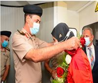 استقبال حافل لـ«فريال أشرف» بعد عودتها لمصر وحصولها على «ذهبية الكاراتيه»