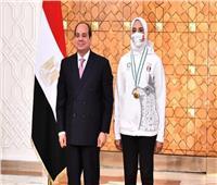 الرئيس السيسي يؤكد توفير كل الإمكانات اللازمة لأبطال مصر الرياضيين