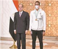 «الجندي وفريال»: تكريم الرئيس السيسى يعد حافزاً وداعماً لنافى البطولات القادمة