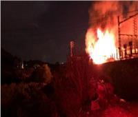 بالفيديو   حريق ضخم بأحد محطات الكهرباء ببيروت
