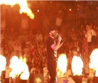 انتهاء حفل النجم تامر حسني على المسرح الروماني بمارينا| صور