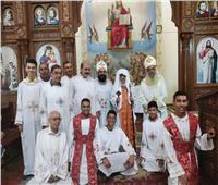 الأنبا قزمان يصلي آخر قداس صوم العذراء في كنيسة مار جرجس بالعريش