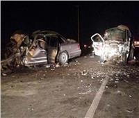 نيابة المنيا تعاين موقع حادث مروري تسبب في إصابة 11 شخصا