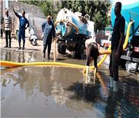 انتهاء إصلاح كسر خط الطرد الرئيسي لمحطة صرف صحي حي ثان الإسماعيلية