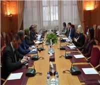 الأمين المساعد للجامعة العربية تلتقيوزيرة الشؤون الاجتماعية الليبية