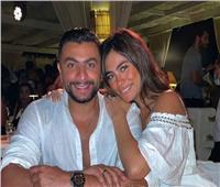 «هاجر أحمد»  مع زوجها في أحدث ظهور: «حب حياتي»