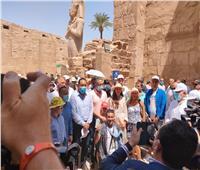 وزير السياحة: تنفيذ عملية ترميم معبد الكرنك بناء على دراسات علمية دقيقة