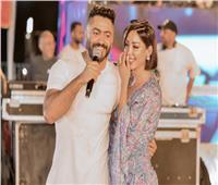 بأغنية ورقصة.. بسمة بوسيل تحتفل بعيد ميلاد تامر حسني