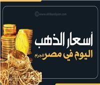 إنفوجراف| أسعار جرام الذهب اليوم في مصر