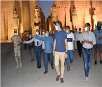 وزير السياحة يتفقد أعمال طريق الكباش صور