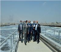 رئيس الوزراء يتفقد أعمال توسعة ورفع كفاءة محطة صرف صحى أبورواش بالجيزة
