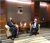 سامح شكري يلتقي وزير الخارجية الجزائري على هامش مؤتمر دول جوار ليبيا