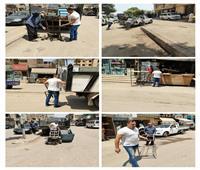 حملات لإزالة الإشغالات في 3 أحياء بالجيزة   صور