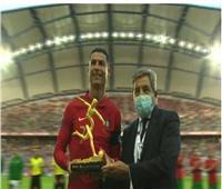 رونالدو يتسلم جائزة «هداف يورو 2020»