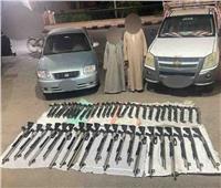الداخلية تضبط 48 بندقية خرطوش وشحنة مخدرات في أسيوط
