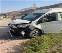 إصابة 7 في حادث تصادم ملاكي وميكروباص في السويس