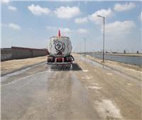 تطوير المنطقة المحيطة لمحطة رفع السلام ١ بمنطقة بحر البقر ببورسعيد