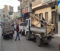 إزالة 1324 حالة إشغال طريق بالجيزة
