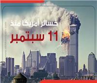 إنفوجراف   خسائر أمريكا منذ 11 سبتمبر