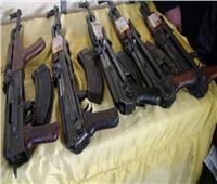 ضبط 4 أسلحة نارية بحوزة متهمين في حملة أمنية بأسوان