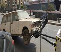 «أوناش المرور» ترفع 40 سيارة ودراجة متهالك لإعادة المظهر الحضاري