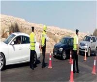 تحرير 1415 مخالفة مرورية على الطرق السريعة