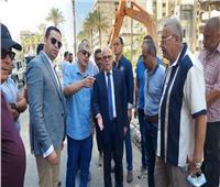 محافظ بورسعيد يتفقد أعمال تطوير شارع ٢٣ يوليو تمهيدًا للافتتاح ساحة مصر