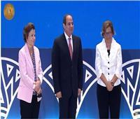 الرئيس السيسي يستجيب لوالدة مديرة برنامج الأمم المتحدة لالتقاط صورة تذكارية