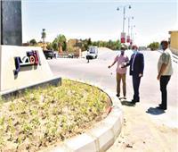 تطوير الشوارع الرئيسية والميادين وطريق الكباش بالأقصر