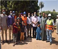 محافظ أسيوط يتفقد أعمال تنفيذ مشروع شبكات مياه الشرب بساحل سليم