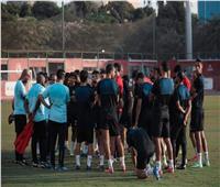 مران الأهلي  موسيماني يجتمع باللاعبين قبل انطلاق التدريبات