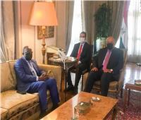 بدء جلسة المباحثات بين سامح شكري ونظيره الكونغولي